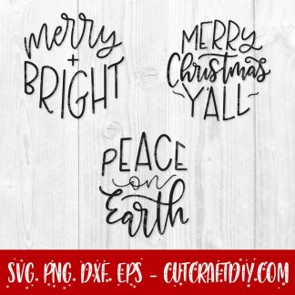 Christmas ornament svg bundle