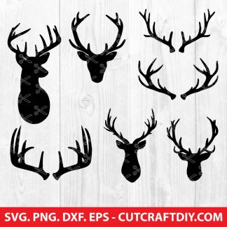 Deer Antlers SVG