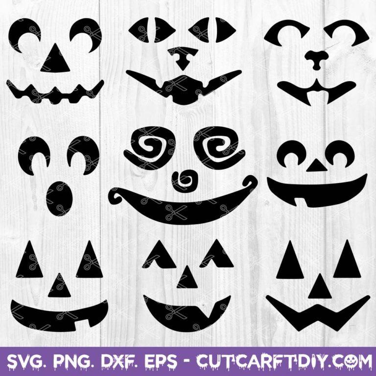Pumpkin Face SVG