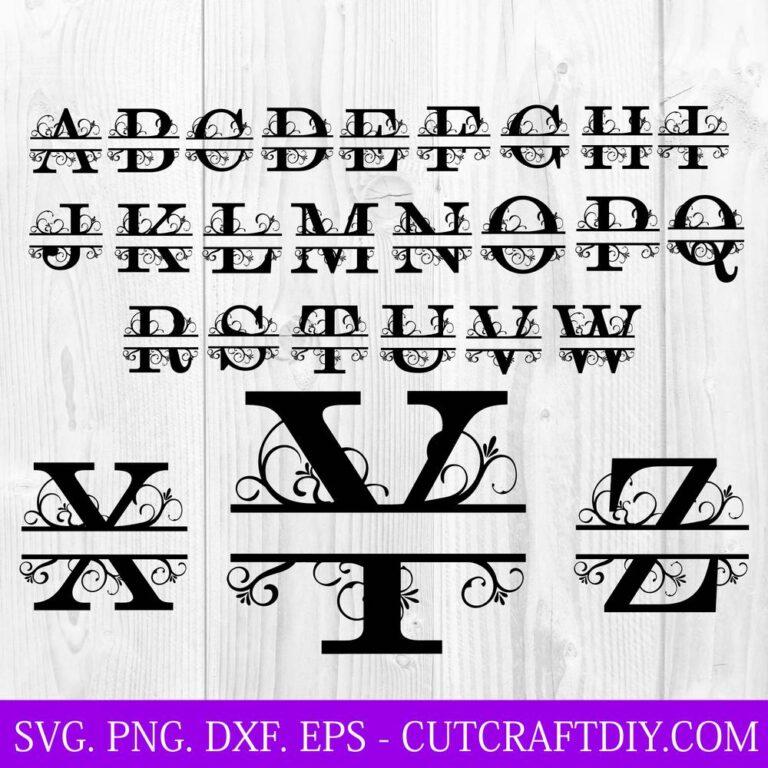 Split Monogram Letters SVG