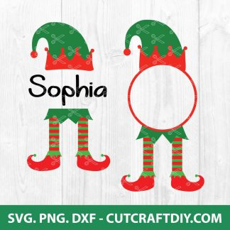Christmas ELF Monogram SVG
