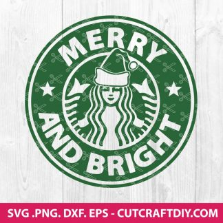 Merry and Bright Starbucks SVG