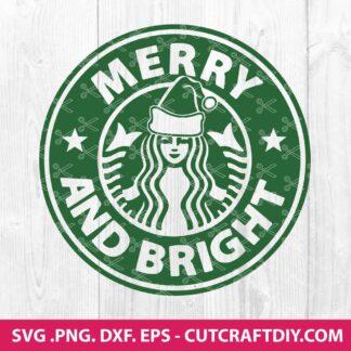 Merry and Bright Starbucks SVG