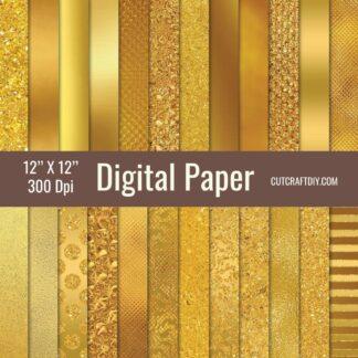 Gold Digital Pape