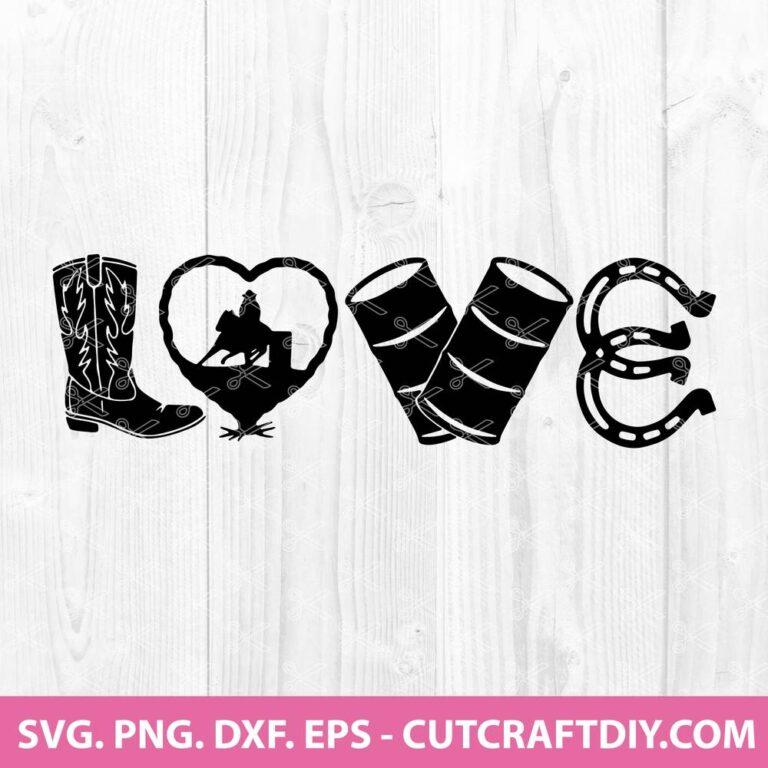 Love Barrel Racing SVG