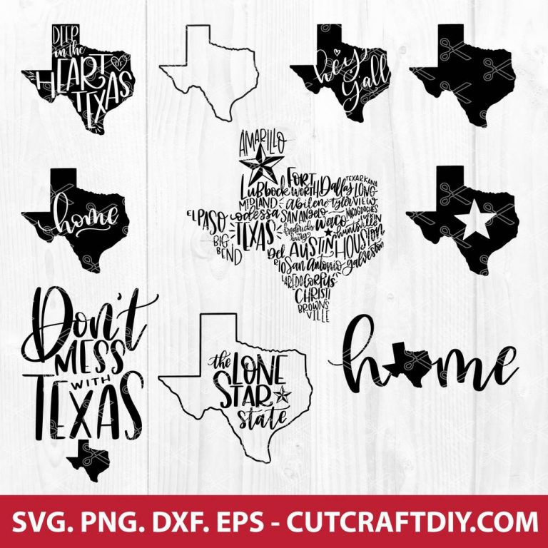 Texas SVG Bundle
