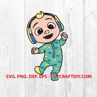 Baby JJ wearing Headphones Cocomelon SVG