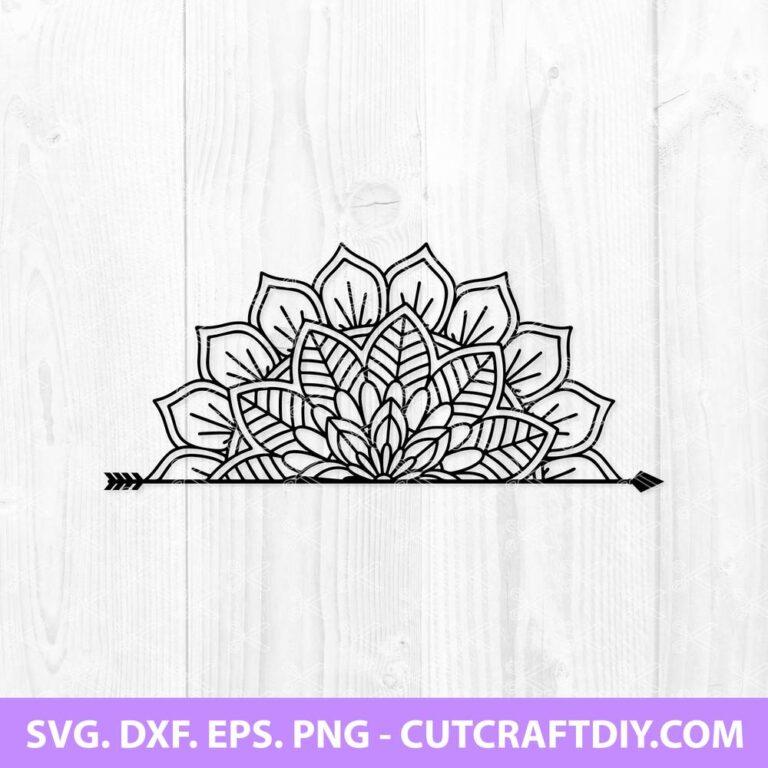 Half Mandala SVG