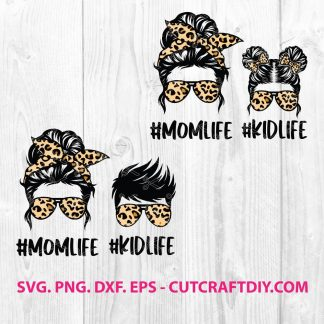 Leopard Mom Skull SVG