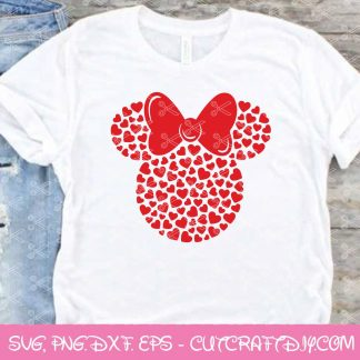 Minnie Hearts SVG