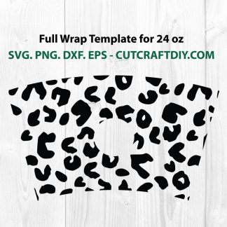 Seamless Full Wrap Leopard Print For Starbucks SVG