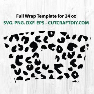 Seamless Full Wrap Leopard Print For Starbucks SVG
