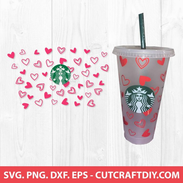 Starbucks Hearts Valentine SVG
