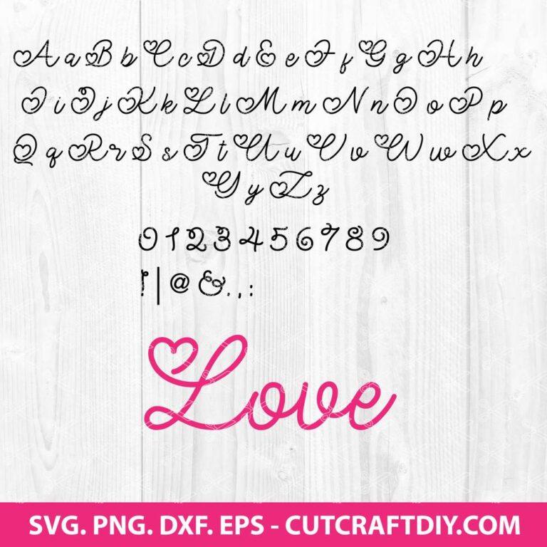 Valentine Font SVG