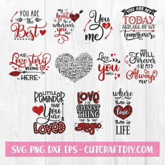 Valentine Quotes SVG