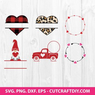 Heart SVG Bundle Monogram SVG