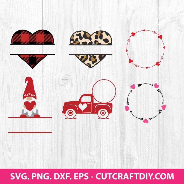 Heart SVG Bundle Monogram SVG