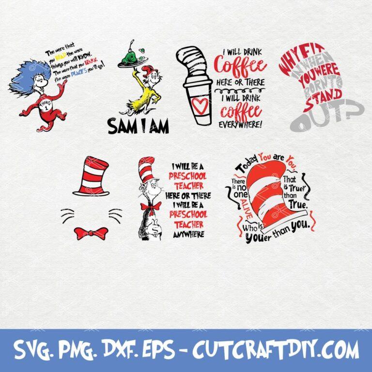 Dr Seuss SVG Bundle