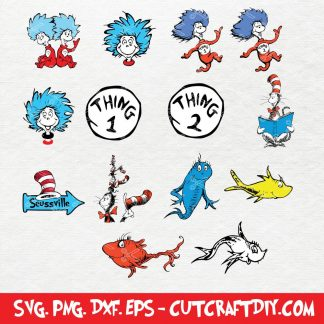 Dr Seuss SVG Cut File
