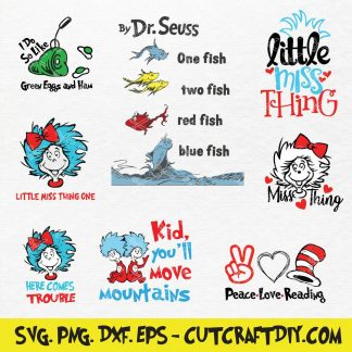 Dr Seuss SVG Bundle