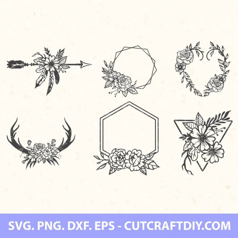 Floral Wreath SVG Bundle