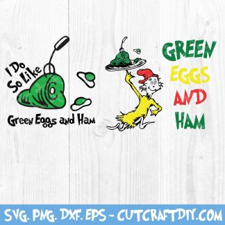 Green Eggs and Ham Dr. Seuss SVG