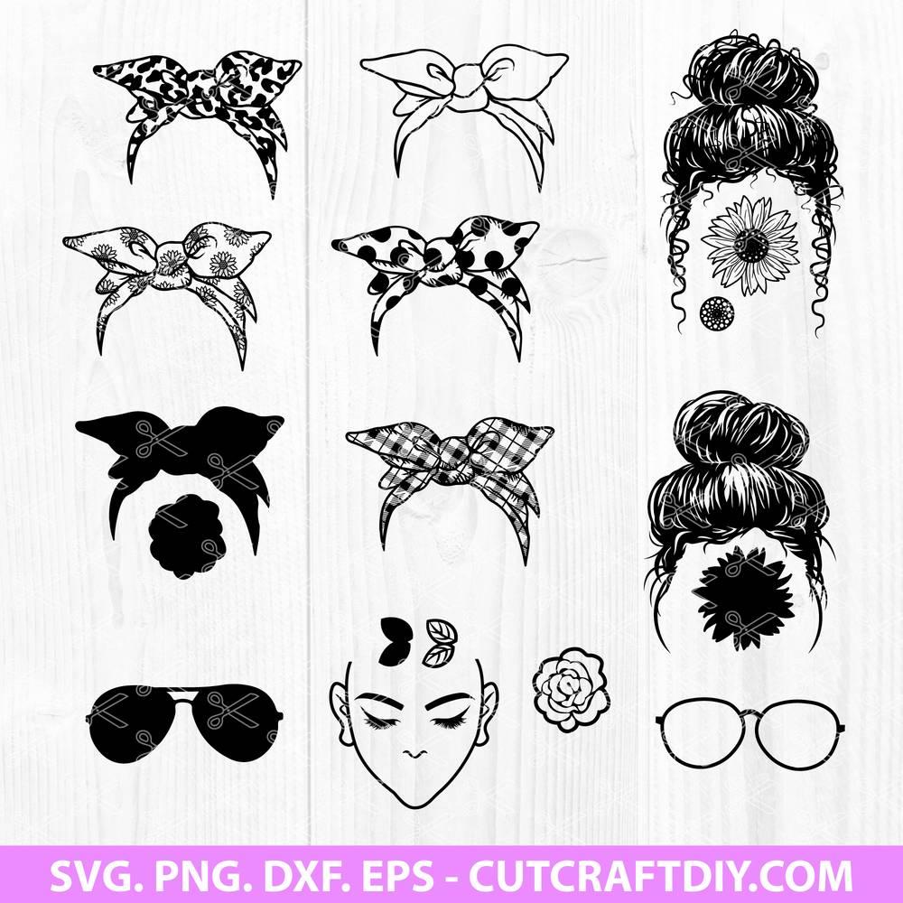 Merica Messy Bun Svg  – 73+ File for DIY T-shirt, Mug, Decoration and more