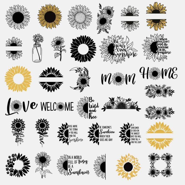 Mega Sunflower SVG Bundle