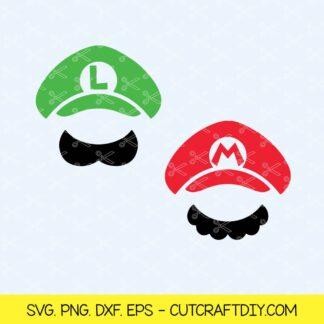 Super Mario and luigi hats SVG