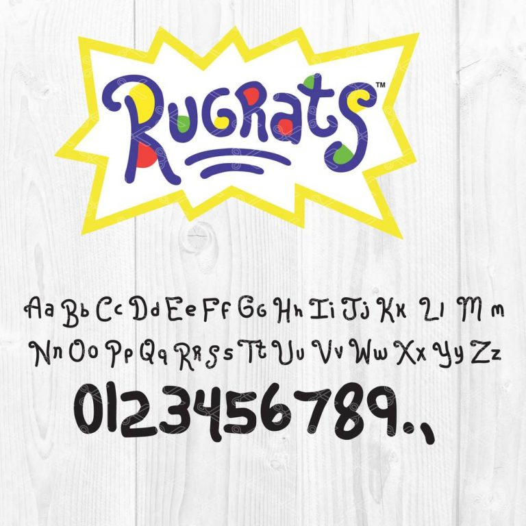 Rugrats Logo and Font SVG
