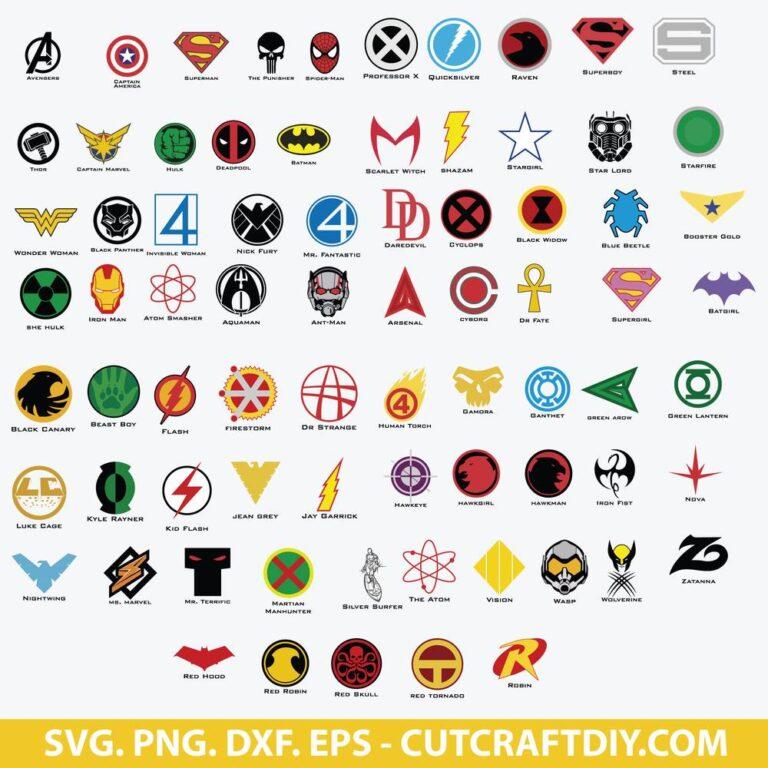 Superhero Logos SVG