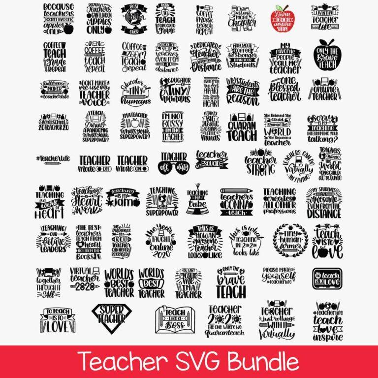 Teacher SVG Bundle