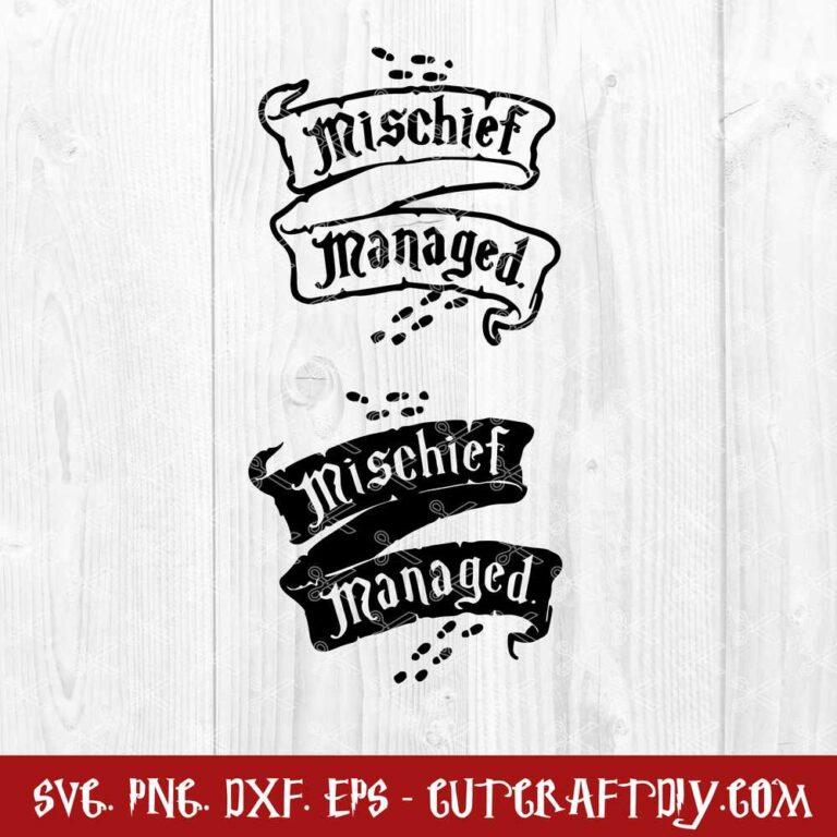 Harry Potter Mischief Managed SVG