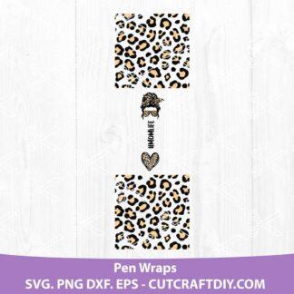 Leopard Mom Life Pen Wraps PNG | SVG