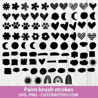 Paint Brush Strokes Svg Bundle
