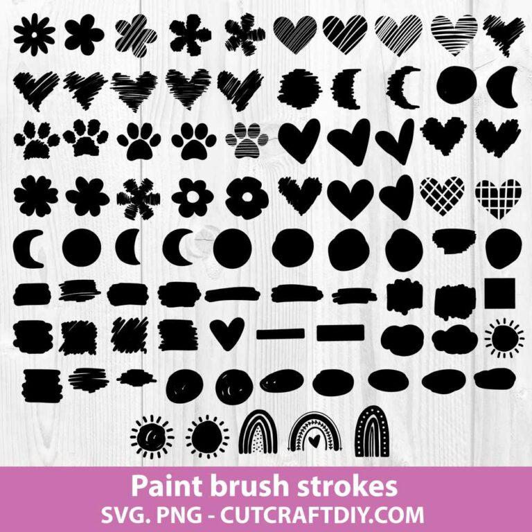 Paint Brush Strokes Svg Bundle