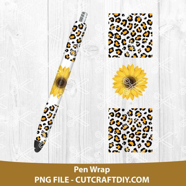 Pen wrap sunflower