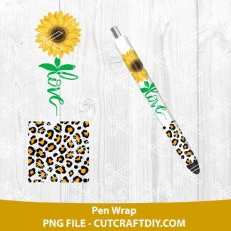 Sunflower Pen Wrap