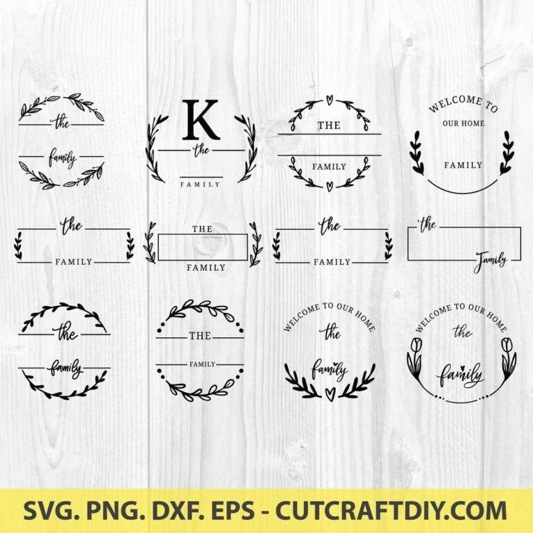 Family Last Name Sign SVG File