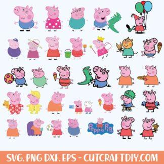Peppa Pig birthday svg bundle