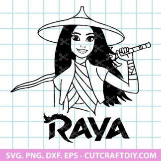Raya Disney Ears Svg Cut File