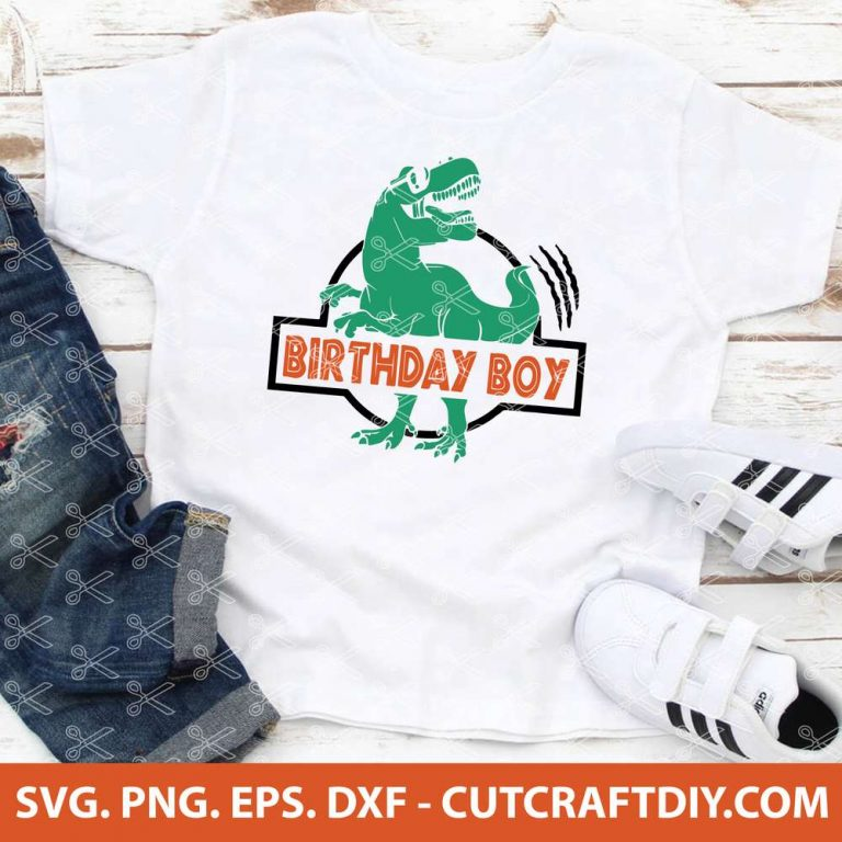Dinosaur Birthday Boy SVG