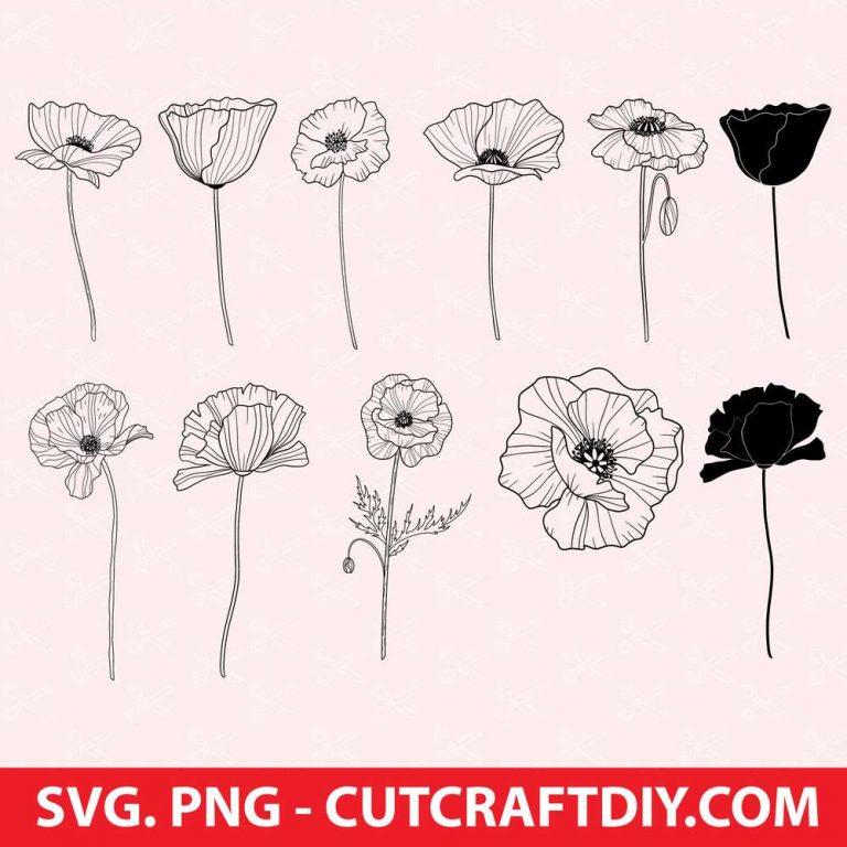 Poppy SVG bundle