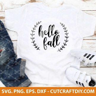 Hello Fall SVG