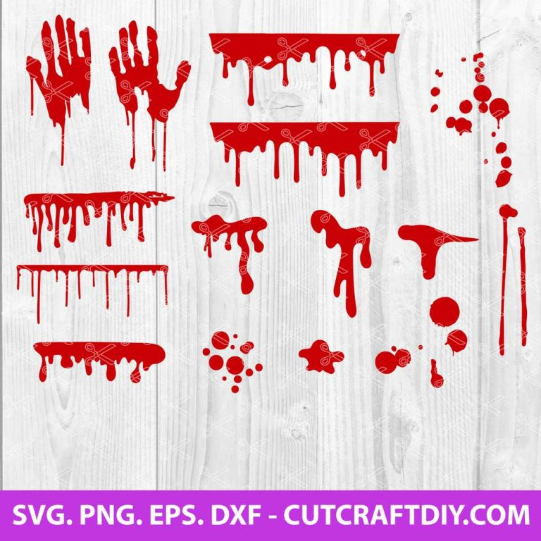 blood splatter svg cut file