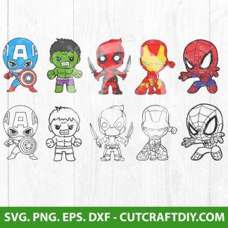 Baby Superheroes SVG