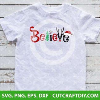 Believe Christmas SVG