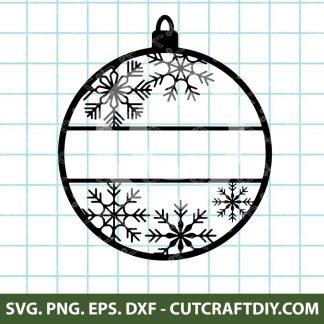 Customizable Snowflake Christmas Ornament SVG