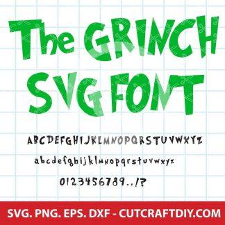 GRINCH FONT SVG