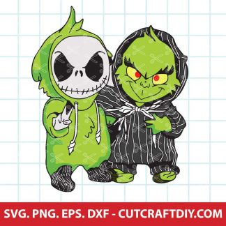Jack Skellington and Grinch SVG